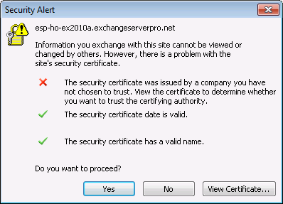 Installation d'un certificat SSL pour Exchange 2013
