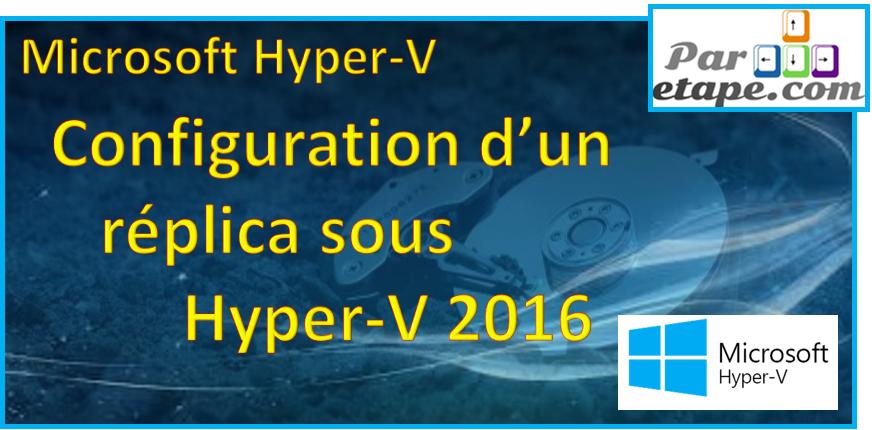 Le réplica sous Hyper V 2016