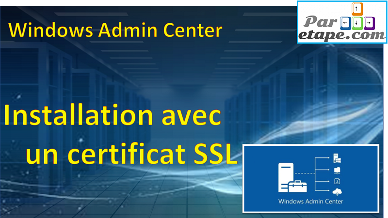 Installation de Windows Admin Center