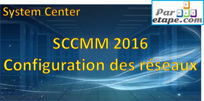 SCVMM 2016 et les réseaux